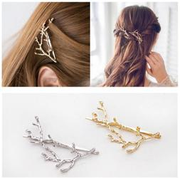 2 pcs metal branches hairpin hair clips