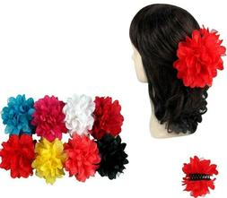 2 pieces Flower Jaw Hair Clip Claw Double Sided Comb Clamp B