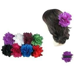 2 pieces Flower Jaw Hair Clip Claw Double Sided Style Petal