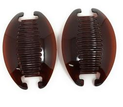 2 set Jumbo Banana Comb Clip Thick Hair Riser Claw Interlock