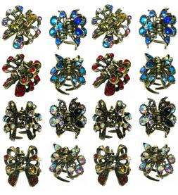 Bella 2 Sets of 8 Mini Jaw Clips, Total 16 Mini Hairclips, 8