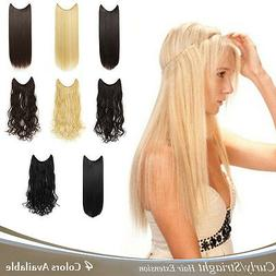 "OneDor 20""/24"" Curly/Striaght Synthetic Hair extensions-Tran"