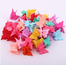 20 packs assorted color butterfly hair clips