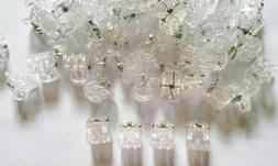 20 Pcs Transparent White Mini Hair Snap Claw Clip Size width