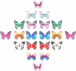 20 Pieces Assorted Colors Pack Glitter 90S Butterfly Hair Cl