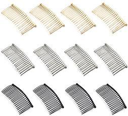 12pcs 7.8cm 20 Teeth Fancy DIY Metal Wire Hair Clip Combs Br