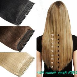 200g 20''~32'' Extra Thicker 5Clips On Piece Clip In Remy Hu
