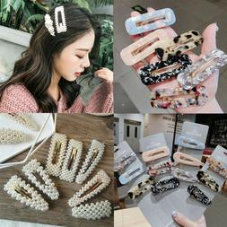 2019 women pearl hair clip snap barrette