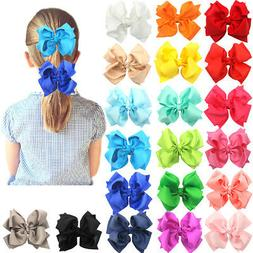 "20Pcs Boutique Girls Kids Children 4"" Grosgrain Ribbon Hair"