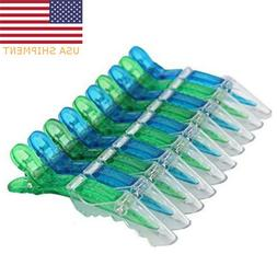 20Pcs Alligator Hair Clips Salon Croc Hair Styling Clip Sect
