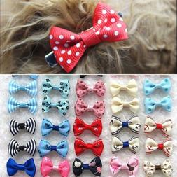 21Pcs/Set Pet Bow Show Barrette Dog Hair Clip For Puppy Cat
