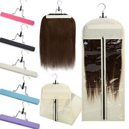 "25""*11"" Virgin Hair Clip In Hair Extensions Carrier Wooden H"