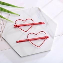 2pcs cute heart star hair clips hairpins