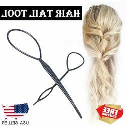 2PCS Fashion Topsy Magic Simple Tail Hair Braid Ponytail Mak