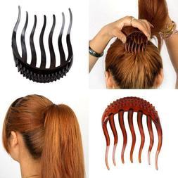 2PCS Ponytail Inserts Hair Clip Bun Bouffant Volume Hair Twi