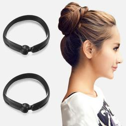 2pcs/set Hair Styling Updo Donut Bun Clip Tool Formal French