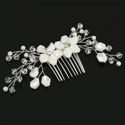 2PCS Vintage Wedding Bridal Pearl Crystal Hair Pins Bridesma