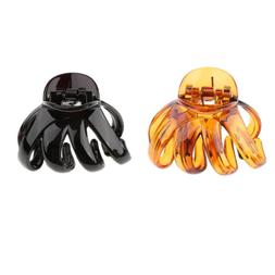 2Pcs Women Hair Claw Octopus Thick Hair Updo Tool Jaw Hair C