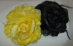 3 in 1 Feather & Lace Flower Hair Clip #4897 ***Available In