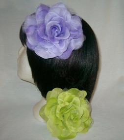 3 in 1 silk chiffon flower rose
