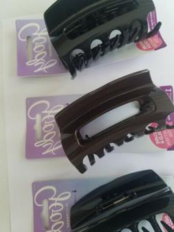 Goody  3 PCS Large Claw Clip Black & Brown for Thick Hair Cl
