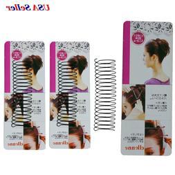 3 Pieces  Invisible Wire Comb Hair Clip Headband Black