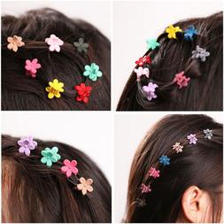 30 PCS Kids Baby Plastic Hair Clips Clamp Flower Girls Hairp