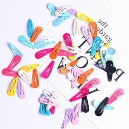 30pcs/lot Candy Color Paint Hair Snap Clip Hairpin Barrette