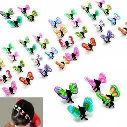 36pcs multi color mini butterfly hair snap