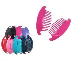 3set  Jumbo Banana Comb Clip Thick Hair Riser Claw Interlock