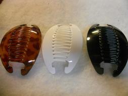 3set Banana Comb Clip Thick Hair Riser Claw Interlocking Jaw