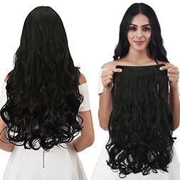 "REECHO 18"" 1-Pack 3/4 Full Head Curly Wavy Clips in on Synth"