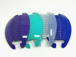 4 set Jumbo Banana Comb Clip Thick Hair Riser Claw Interlock