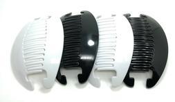 4 set Interlocking Banana Combs Hair Clip French Side Comb H