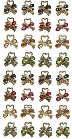 4 Sets of 8 Mini Jaw Clips Total Count 32 Hairclips  Pale Go