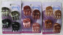 4 Goody Shiny Noelle Claw Clips Small Plastic Jaw Hair Clips