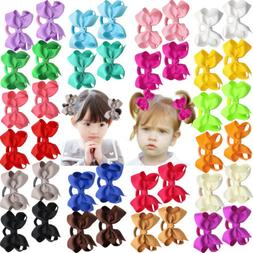 40Lots Baby Girls Hair Bows Hair Ties Ponytail Holders Kids