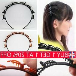4PC Double Bangs Hairstyle Hair Clips Bangs Hair Band Hairpi