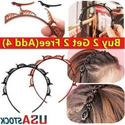 4PC Double Bangs Hairstyle Hair Clips Bangs Hair Band Hairpi