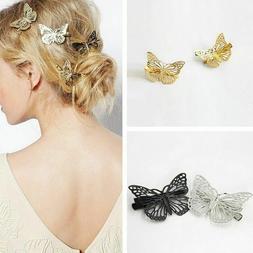 4Pcs Women Butterfly Hair Clip Headband Hair Accessories Hea