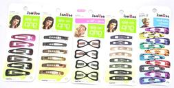 5 Packs Scunci No-Slip Grip Hair Clips Assorted Colors And S