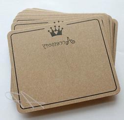 50x Plain Kraft Paper Headband Hair Bow Hair Clip Holders Packaging Display
