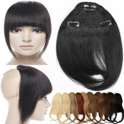 5A 100% Human Hair Bangs Fringe With 3Clips Remy Clip In Hai