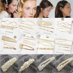 5PCS Fashion Pearl Hair Clip Hairband Comb Bobby Pin Barrett