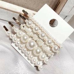 5pcs/set Pearl Hair Clip Barrettes Fashion Women's Handmade