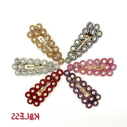 6 Extra Large Hair Snap Clips 3 Inches
