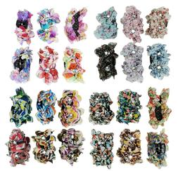 6 Flower Hair Clip for Women Girl Claw Clip Jaws Comb with F