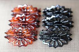 6 Pcs Fashion Women Color Brown Black Hair Claw Clips Made i