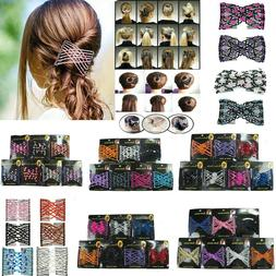 6 pieces Assorted colors Designs Stretchy Beads Side Hair Co