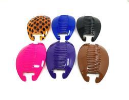 6 set Interlocking Banana Combs Hair Clip French Side Comb H